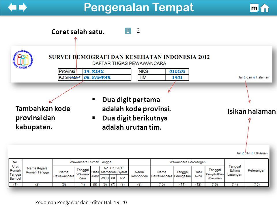 100% SDKI 2012 100% Kol (1) dan (2) m Pedoman Pengawas dan Editor Hal.