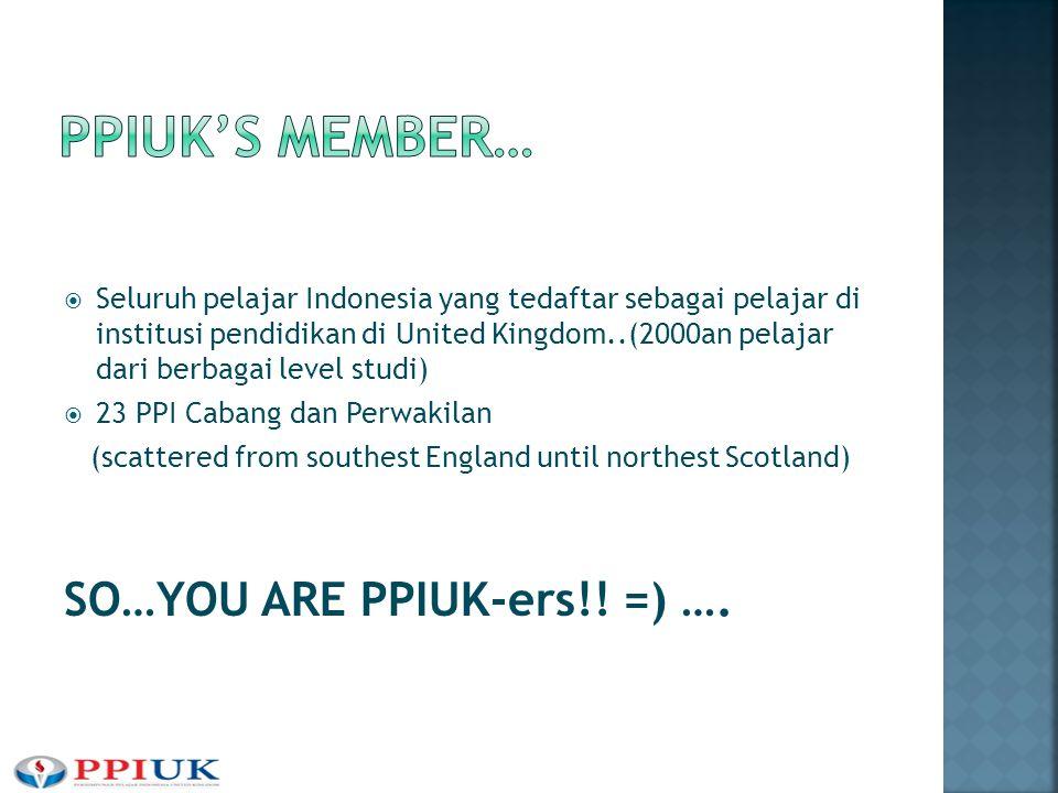  Seluruh pelajar Indonesia yang tedaftar sebagai pelajar di institusi pendidikan di United Kingdom..(2000an pelajar dari berbagai level studi)  23 P
