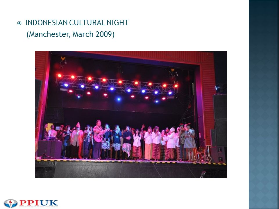  INDONESIAN CULTURAL NIGHT (Manchester, March 2009)