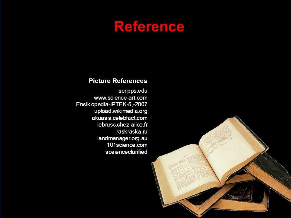Reference Picture References scripps.edu www.science-art.com Ensiklopedia-IPTEK-5,-2007 upload.wikimedia.org akuasis.celebfact.com lebrusc.chez-alice.