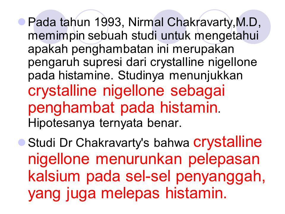 Pada tahun 1993, Nirmal Chakravarty,M.D, memimpin sebuah studi untuk mengetahui apakah penghambatan ini merupakan pengaruh supresi dari crystalline ni