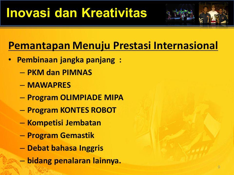 Program : Perintisan Kerjasama Beasiswa Luar negeri Penelusuran potensi sumber beasiswa luar negeri Pengembangan program student exchange, dsb.