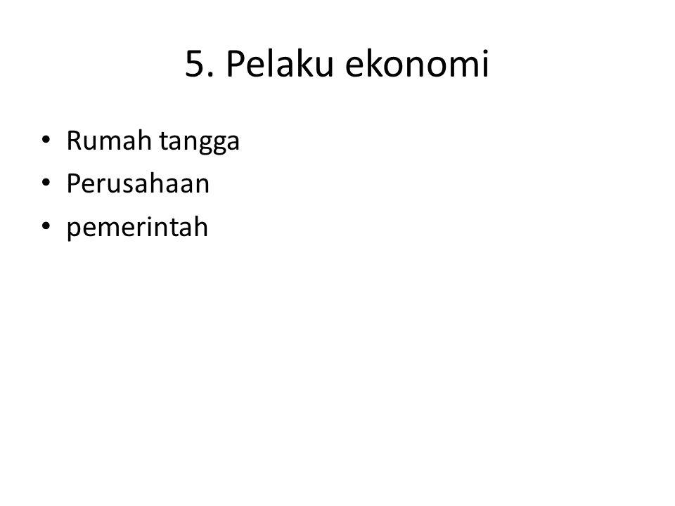 5. Pelaku ekonomi Rumah tangga Perusahaan pemerintah