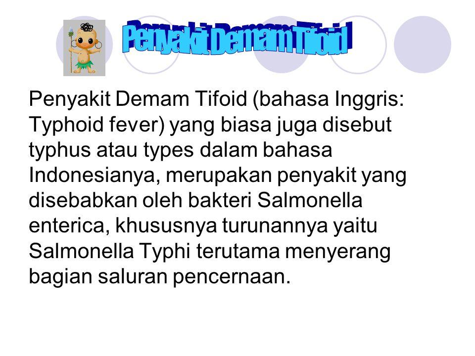 Penyakit Demam Tifoid (bahasa Inggris: Typhoid fever) yang biasa juga disebut typhus atau types dalam bahasa Indonesianya, merupakan penyakit yang disebabkan oleh bakteri Salmonella enterica, khususnya turunannya yaitu Salmonella Typhi terutama menyerang bagian saluran pencernaan.