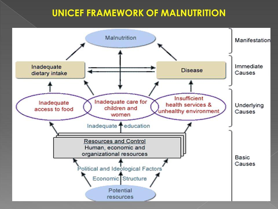 UNICEF FRAMEWORK OF MALNUTRITION