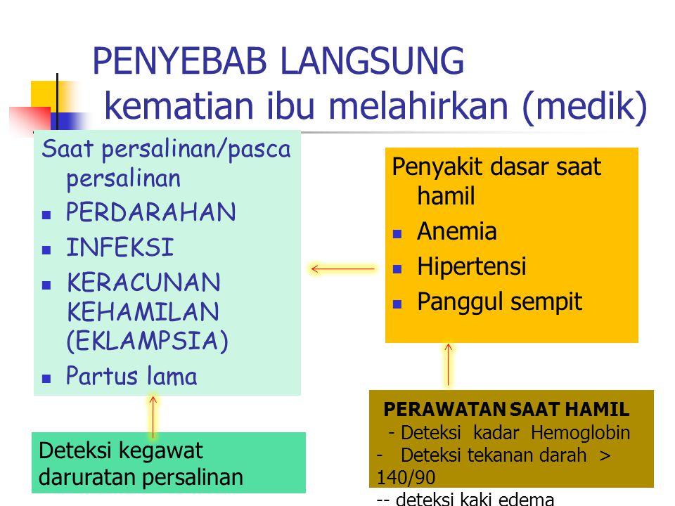 Persalinan aman Bentuk operasional Undang-Undang nomor 36 tahun 2009 tentang Kesehatan tertuang dalam Peraturan Menteri Kesehatan RI No 2562/MENKES/PE