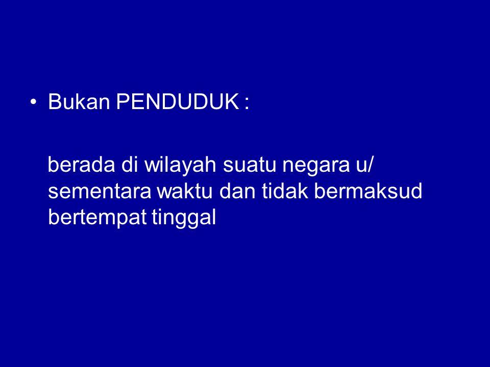 Pasal 26 UUD 1945 WARGA NEGARA : orang-orang bangsa Indonesia asli dan orang-orang bangsa lain yang disahkan dengan undang-undang sebagai warga- negara