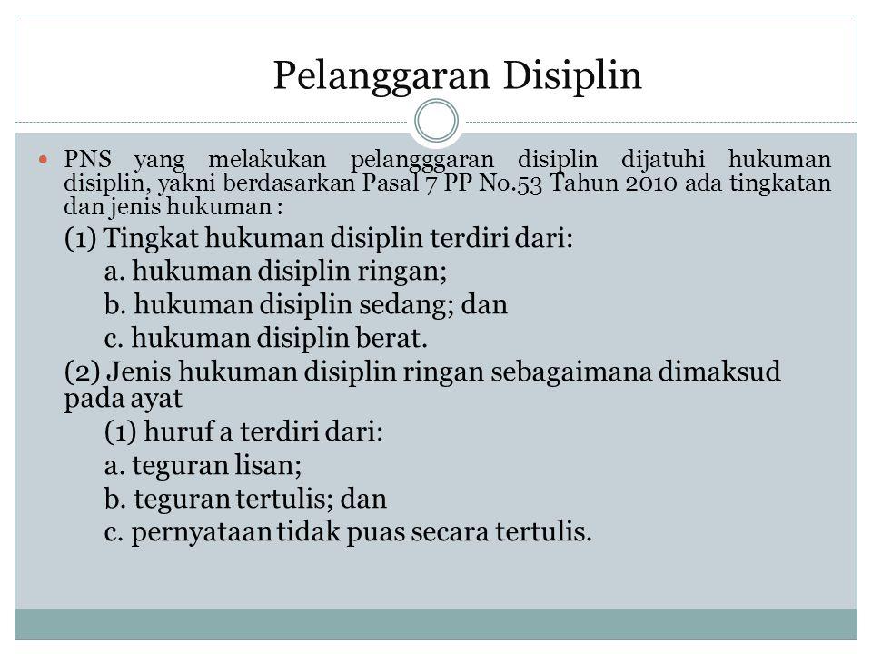 (3) Jenis hukuman disiplin sedang sebagaimana dimaksud pada ayat (1) huruf b terdiri dari: a.