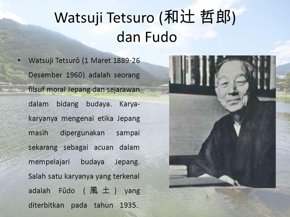Pada tahun 1927, Watsuji pergi ke Jerman.