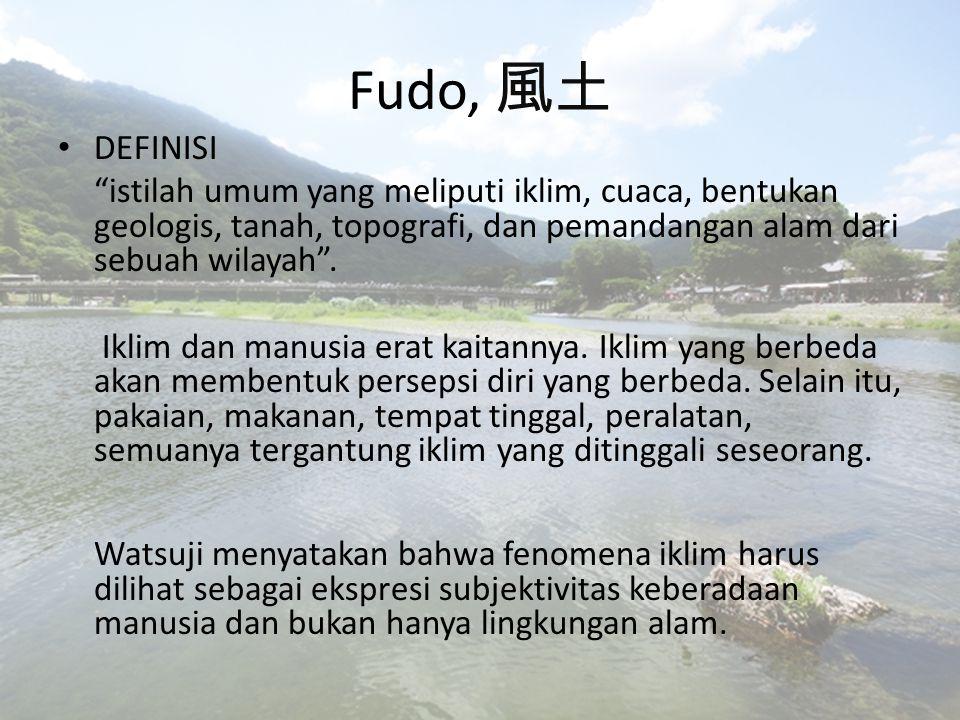 Fudo Dia menjelaskannya menggunakan contoh dari fenomena dingin .