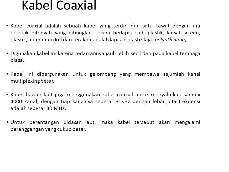 Kabel coaxial adalah sebuah kabel yang terdiri dari satu kawat dengan inti terletak ditengah yang dibungkus secara berlapis oleh plastik, kawat screen