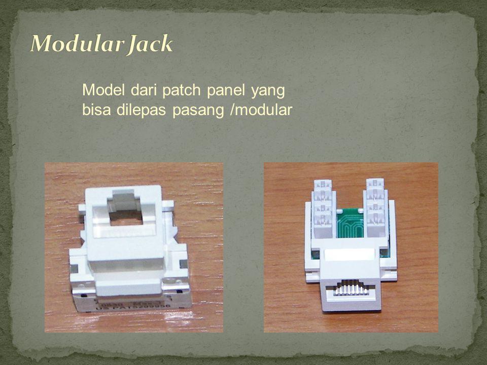 Model dari patch panel yang bisa dilepas pasang /modular