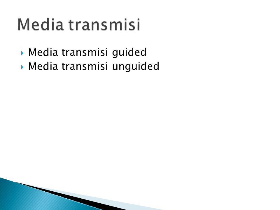  Media transmisi guided  Media transmisi unguided