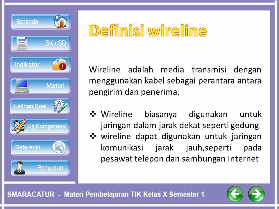 Wireline adalah media transmisi dengan menggunakan kabel sebagai perantara antara pengirim dan penerima.  Wireline biasanya digunakan untuk jaringan
