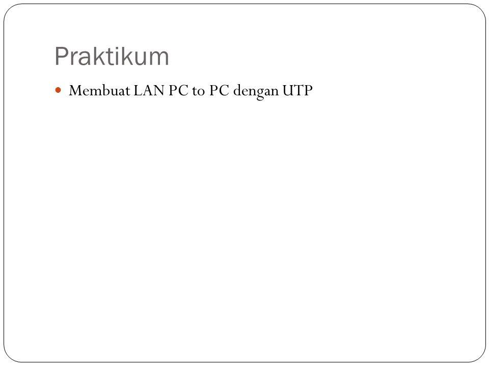 Praktikum Membuat LAN PC to PC dengan UTP