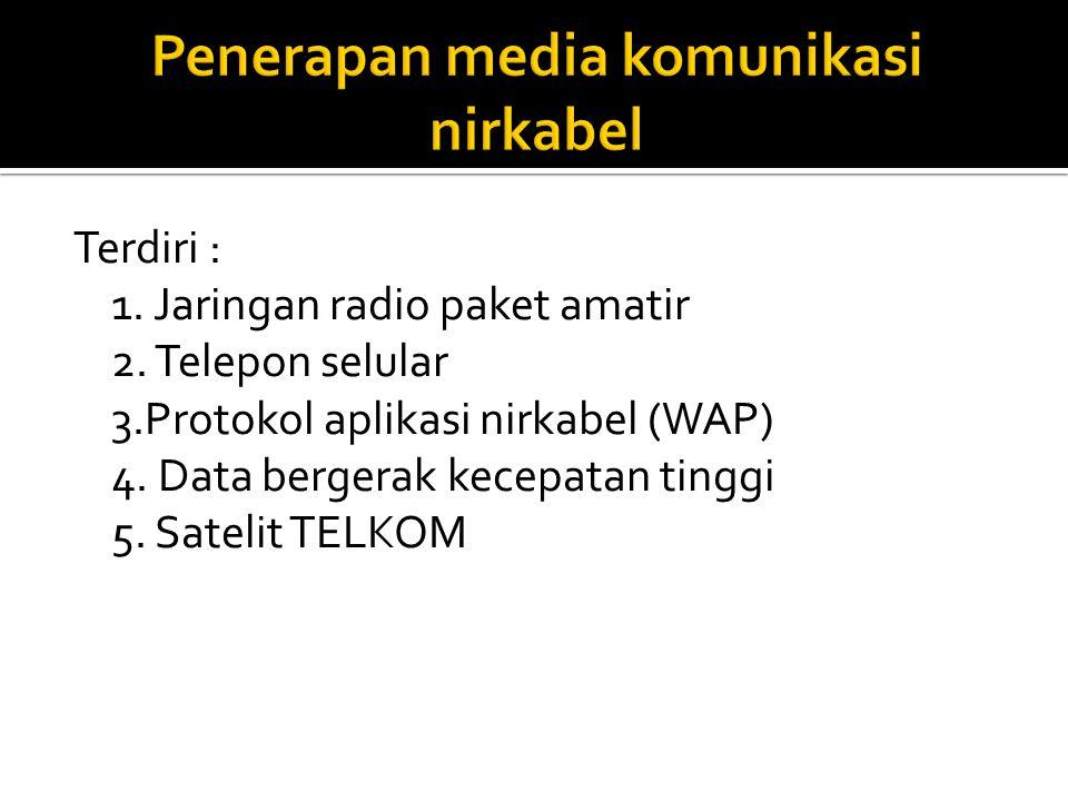 Terdiri : 1.Jaringan radio paket amatir 2. Telepon selular 3.Protokol aplikasi nirkabel (WAP) 4.