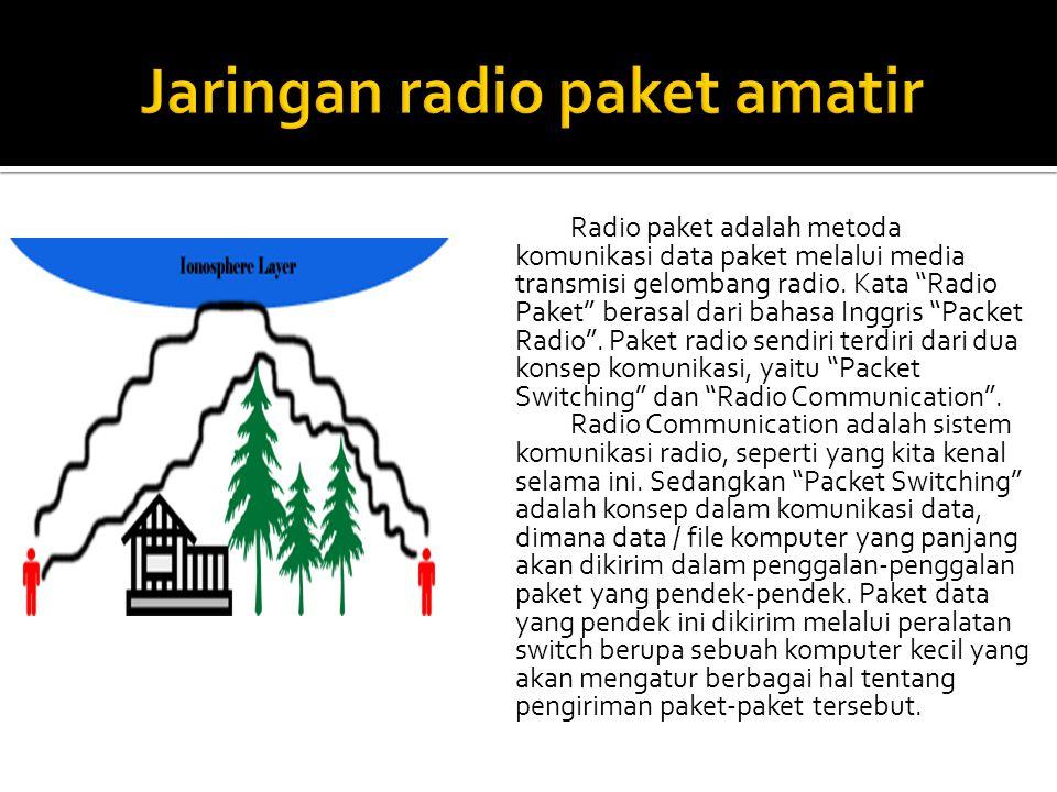 Radio paket adalah metoda komunikasi data paket melalui media transmisi gelombang radio.