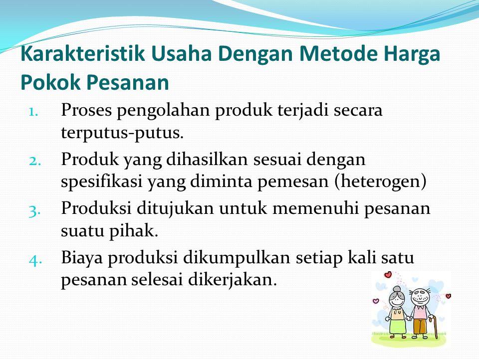 Karakteristik Usaha Dengan Metode Harga Pokok Pesanan 1.