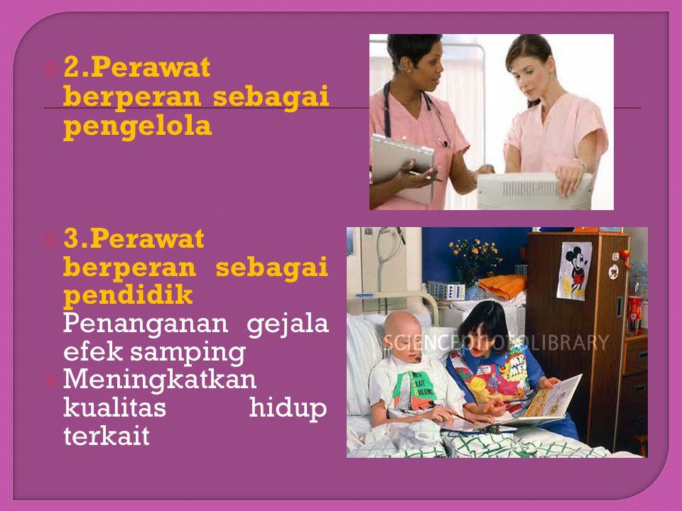 d. Perawat berperan sebagai pembaharu (change agent) e.Perawat berperan sebagai konselor