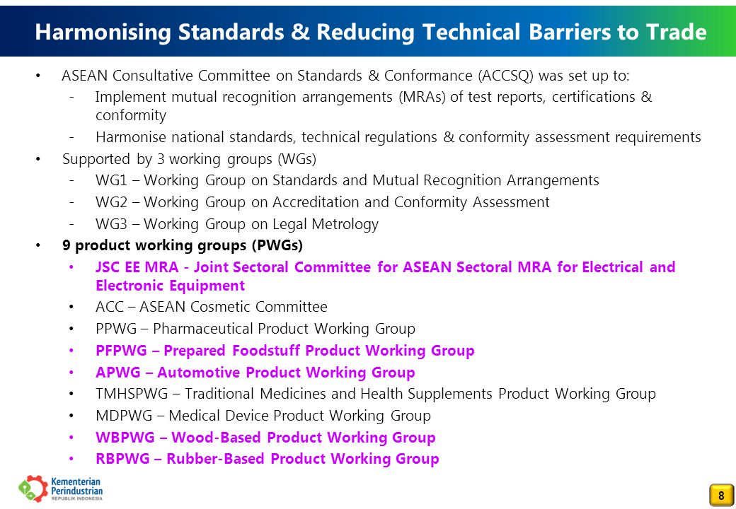 9 AGREEMENT ON THE ASEAN HARMONIZED ELECTRICAL AND ELECTRONIC EQUIPMENT (EEE) REGULATORY REGIME
