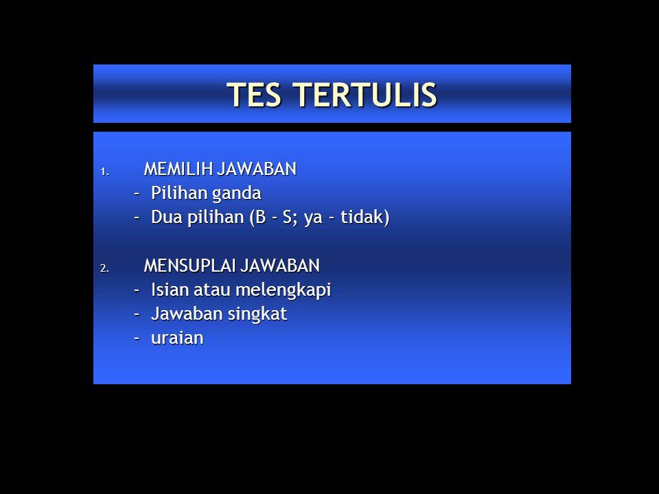 TES TERTULIS 1.