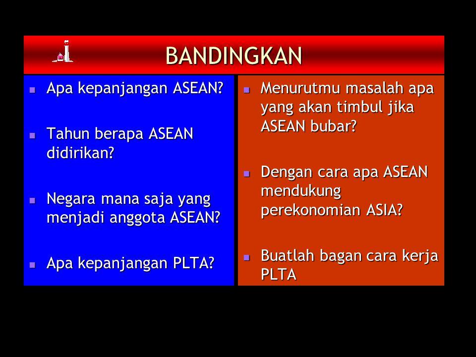 BANDINGKAN Apa kepanjangan ASEAN.Apa kepanjangan ASEAN.