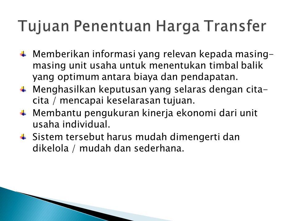 Arti Luas  Harga produk / jasa yang ditransfer antar pusat pertanggungjawaban dalam perusahaan.