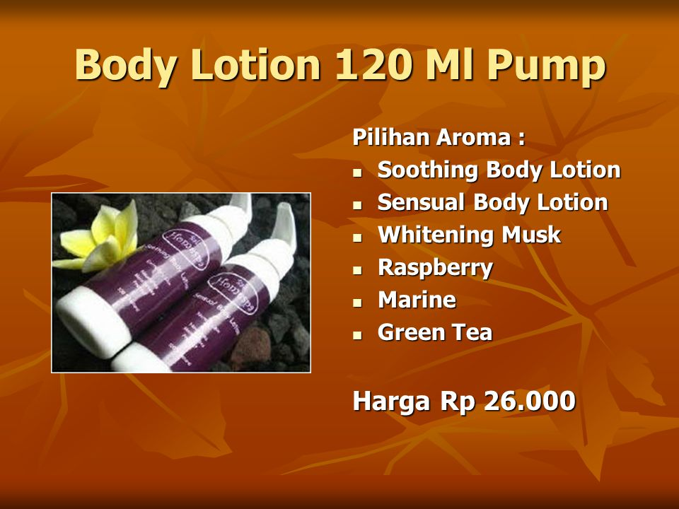 Body Lotion 120 Ml Pump Pilihan Aroma : Soothing Body Lotion Soothing Body Lotion Sensual Body Lotion Sensual Body Lotion Whitening Musk Whitening Mus