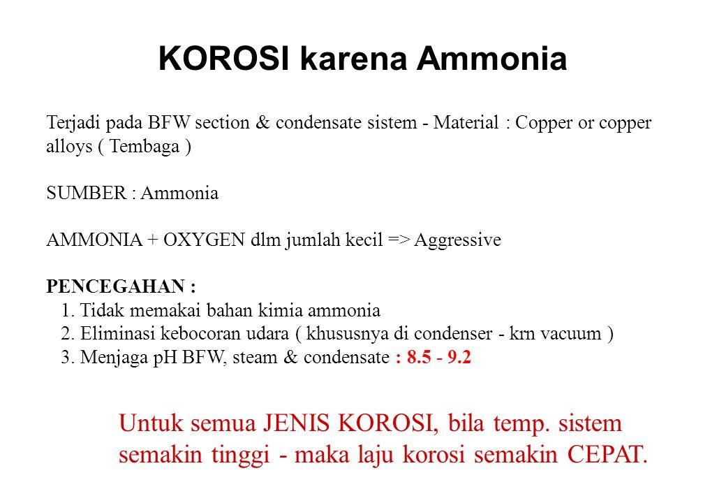 SOLUSI KOROSI karena CO 2 1.MECHANICAL a. Eliminasi kebocoran udara & proses b.