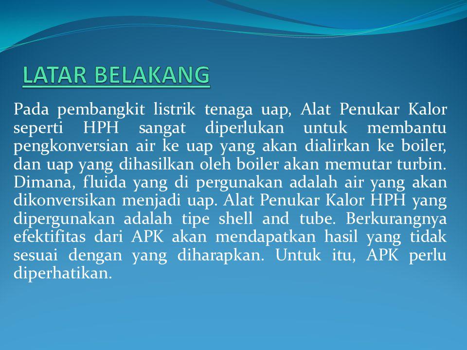 Pada pembangkit listrik tenaga uap, Alat Penukar Kalor seperti HPH sangat diperlukan untuk membantu pengkonversian air ke uap yang akan dialirkan ke b