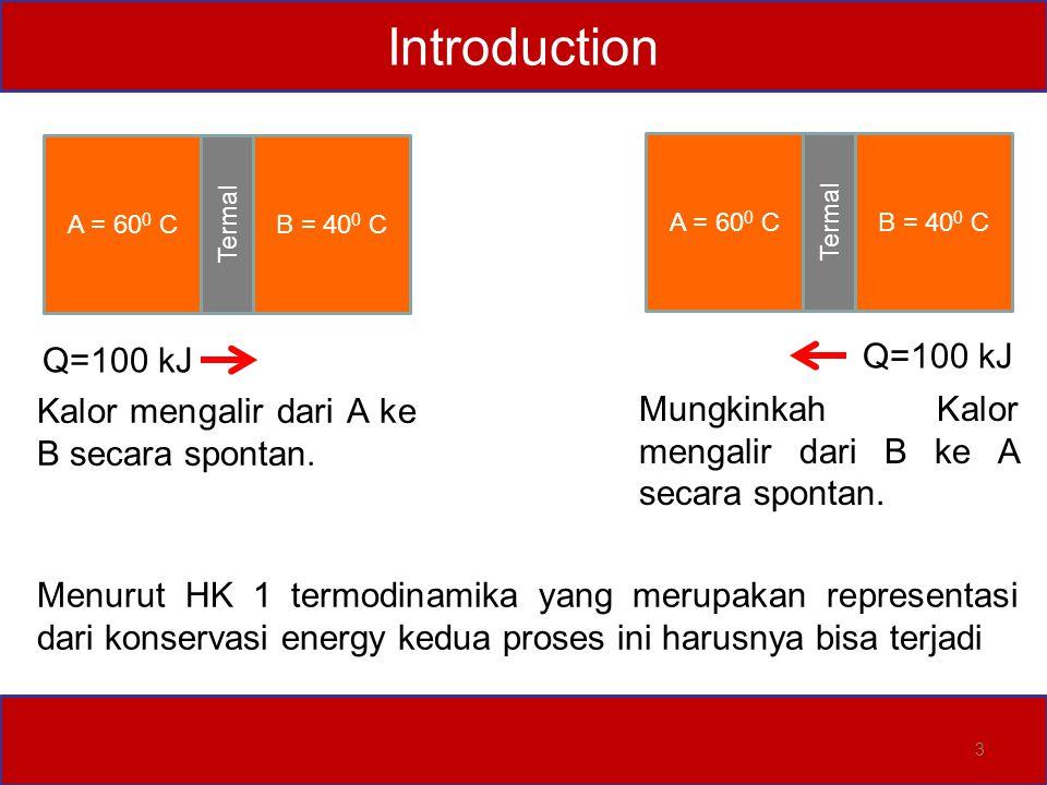 Introduction 4 Jika beban dijatuhkan pengaduk akan berputar  fluida akan panas  kalor.