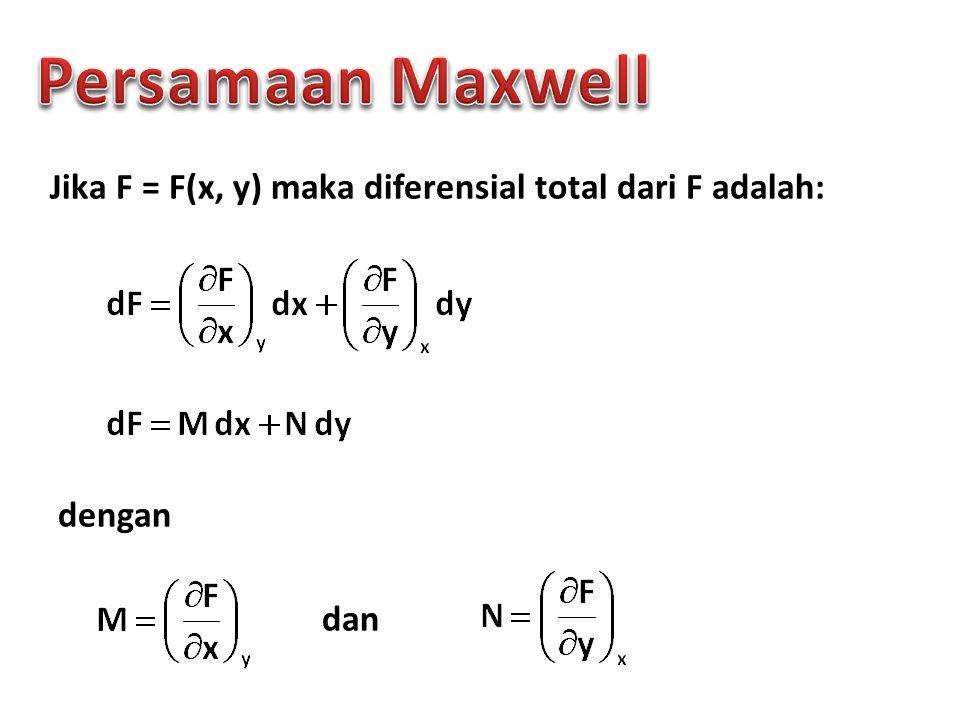 Jika F = F(x, y) maka diferensial total dari F adalah: dengan dan