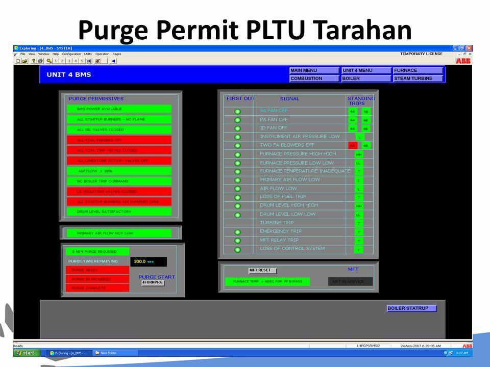 Purge Permit PLTU Tarahan 45