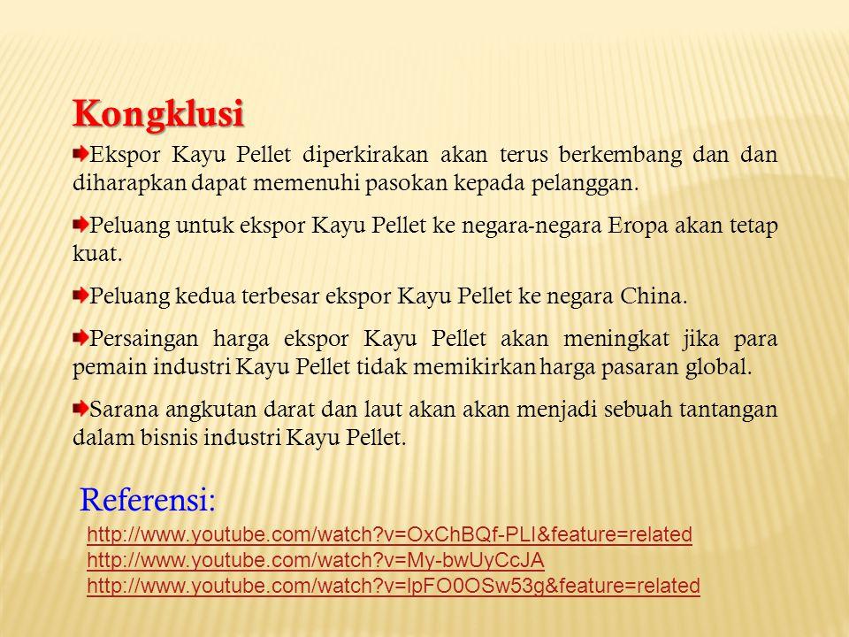 Ekspor Kayu Pellet diperkirakan akan terus berkembang dan dan diharapkan dapat memenuhi pasokan kepada pelanggan.