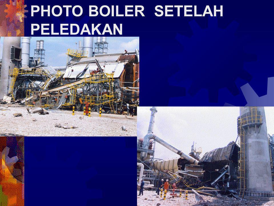 INTRODUCTION Pada 9 Des 2000, sekitar jam 2:30am, tiga orang personil mencoba untuk melakukan re- start pada boiler ketika sebuah ledakan terjadi di dalam dapur ruang bakar boiler.
