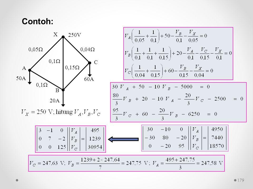 0,1  0,15  50A 20A 60A 0,05  0,1  0,04  250V X A B C Contoh: 179