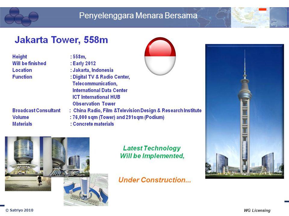 © Satriyo 2010 WG Licensing Penyelenggara Menara Bersama