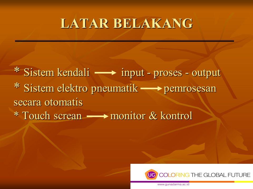 JUDUL PENULISAN SISTEM PENGENDALIAN MESIN BOILER BERBASIS PLC (Programmable Logic Control) DENGAN MEDIA LAYAR SENTUH PADA PT. GOODYEAR INDONESIA Tbk B