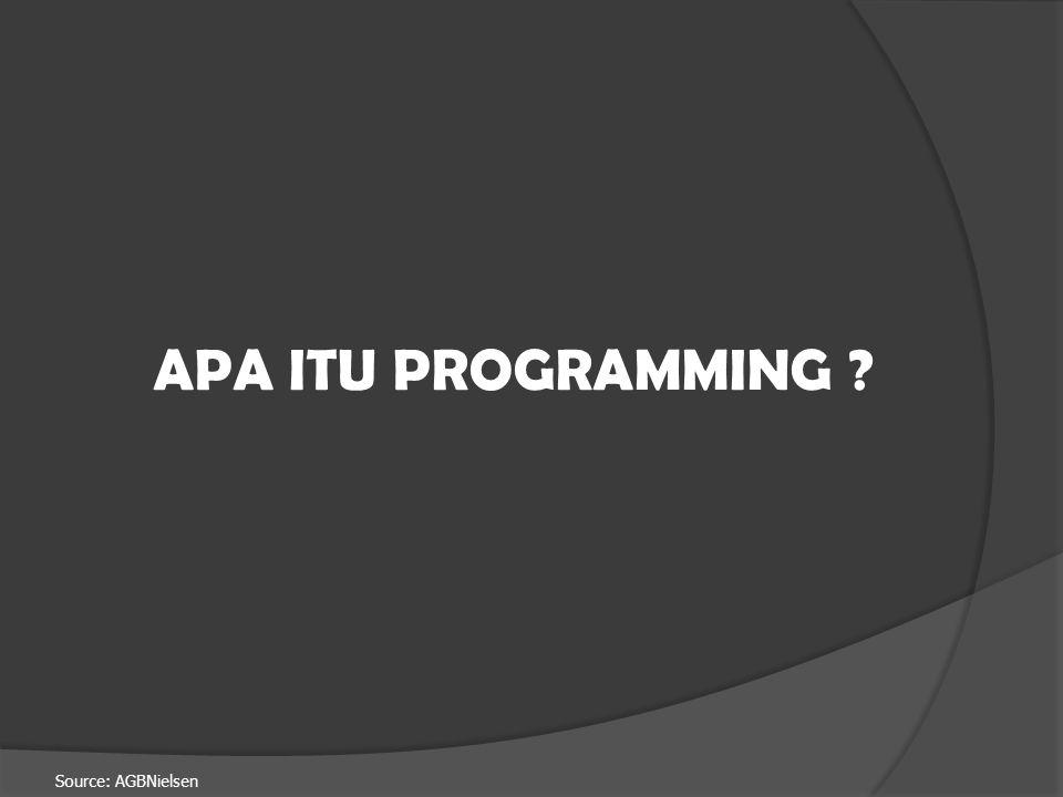Source: AGBNielsen APA ITU PROGRAMMING ?
