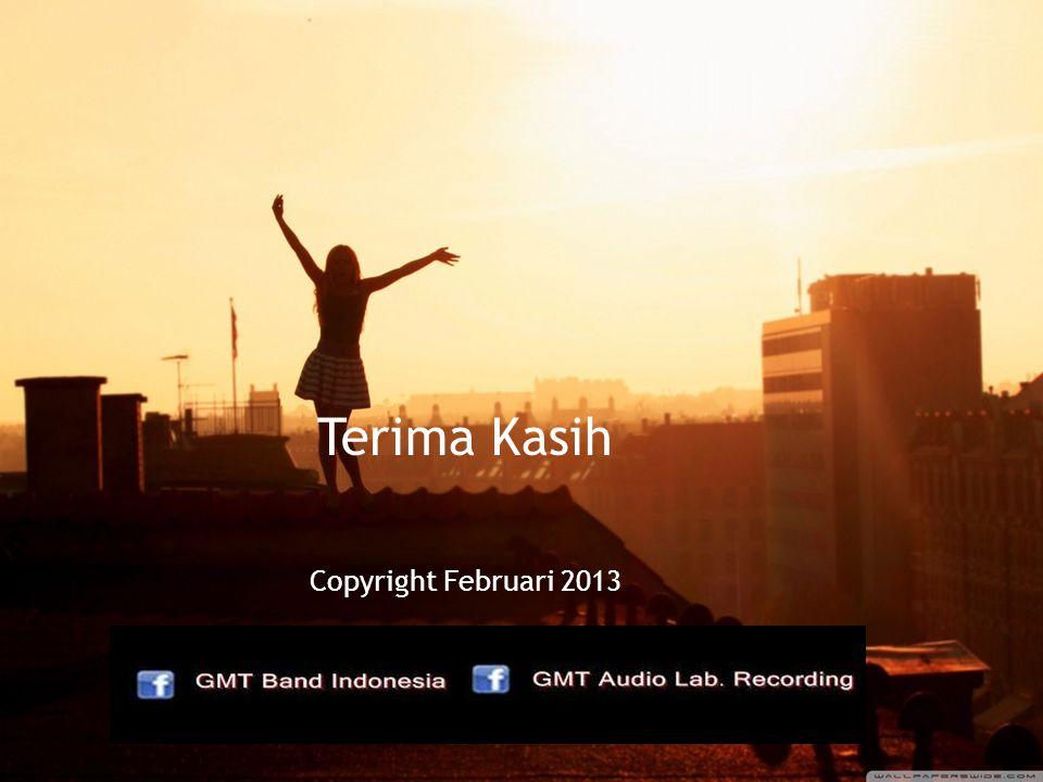 Terima Kasih Copyright Februari 2013