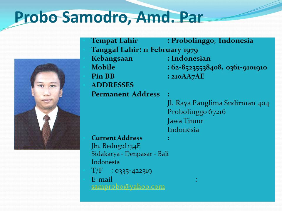 ORGANISASI PROFESI / ILMIAH 2000 - 2005IJUMPI ( Ikatan Juru Masak Profesional Indonesia )Sebagai ANGGOTA 2007-2011ICA ( Indonesian Chef Association )S