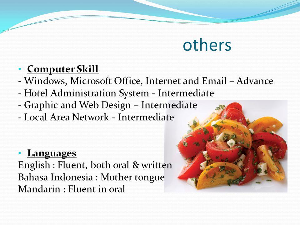 Education (highest) June 1996 - April 2001: Bali Hotel & Tourism Institute / STP (Sekolah Tinggi Pariwisata)Bali, Nusa Dua,Indonesia majoring in Hotel