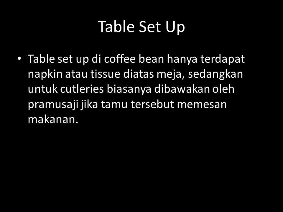 Komposisi kopi dalam setiap cup Komposisi nya adalah sebagai berikut: Untuk ukuran Small: 8oz Untuk ukuran Reguler: 12oz Untuk ukuran Large: 16oz