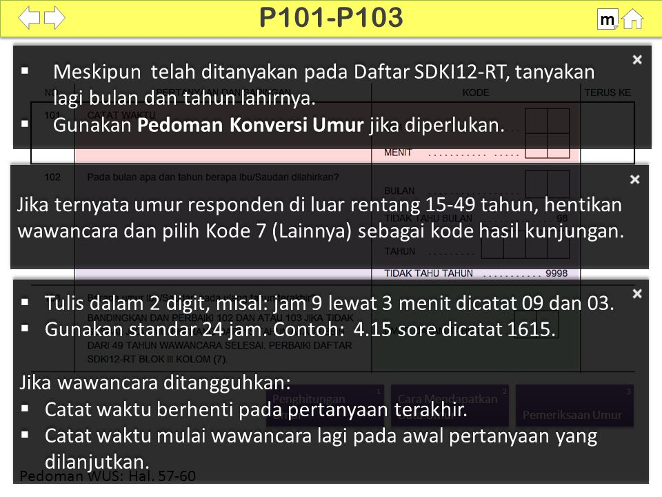 100% P101-P103 m Pedoman WUS: Hal.