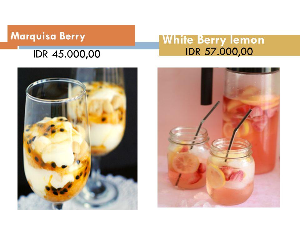 Marquisa Berry White Berry lemon IDR 45.000,00 IDR 57.000,00