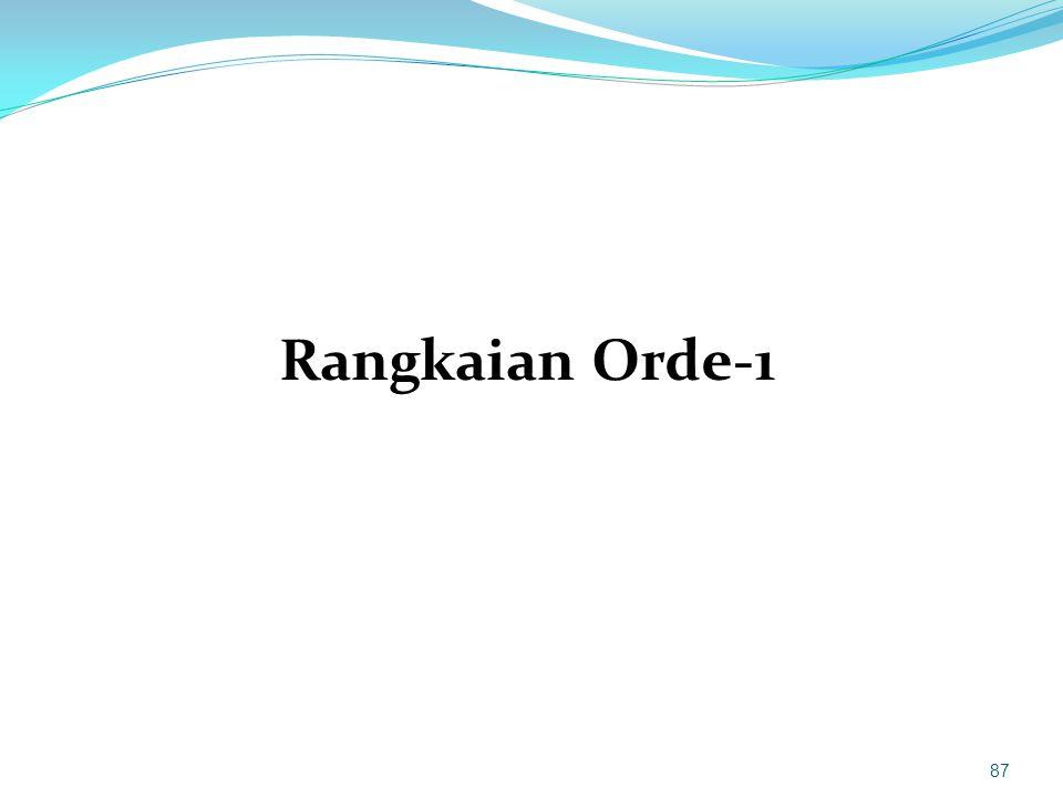 Rangkaian Orde-1 87