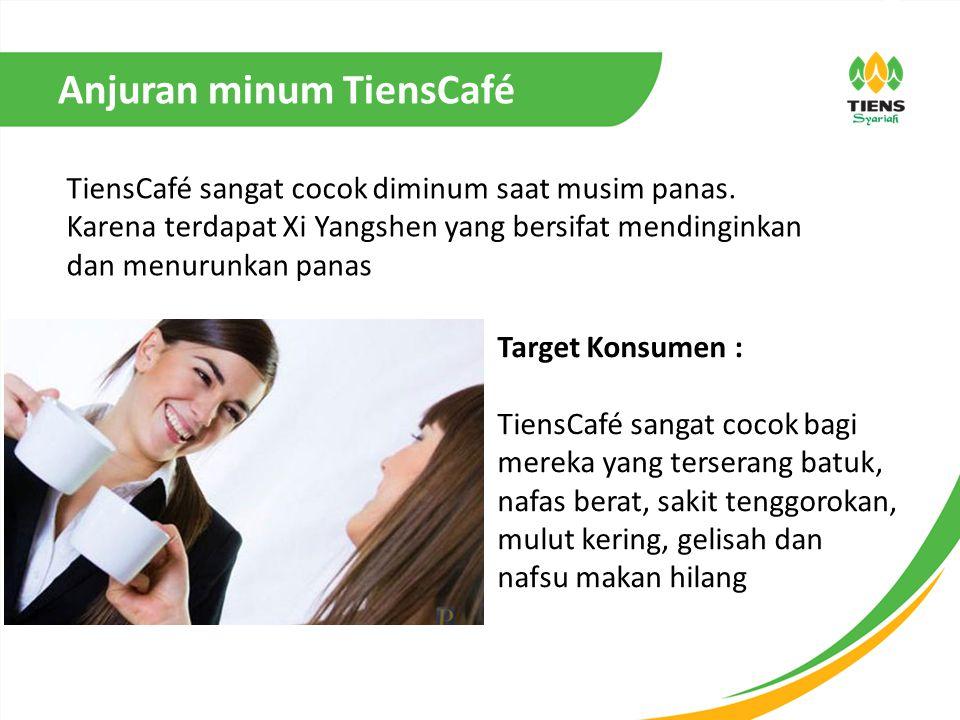 Anjuran minum TiensCafé TiensCafé sangat cocok diminum saat musim panas.