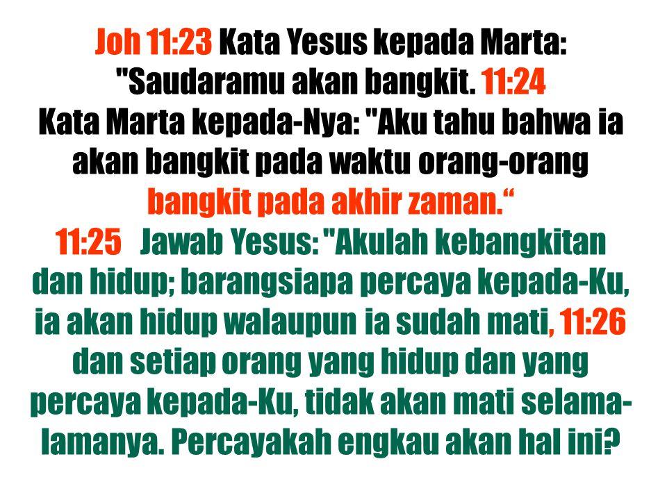 Joh 11:23 Kata Yesus kepada Marta: