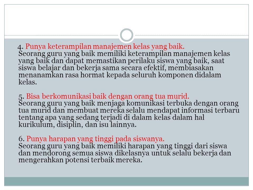 7.Pengetahuan tentang kurikulum.