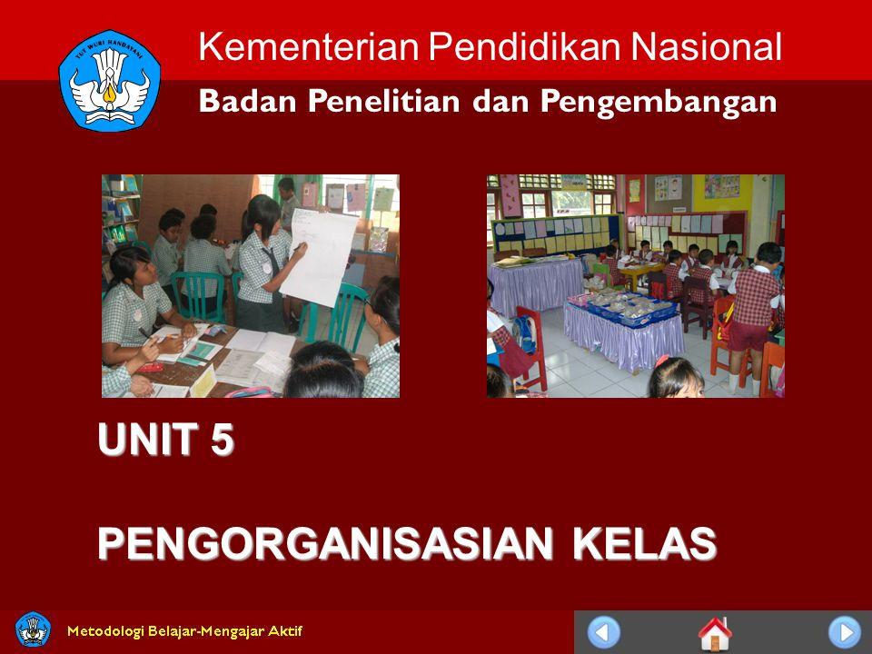 Kementerian Pendidikan Nasional Badan Penelitian dan Pengembangan UNIT 5 PENGORGANISASIAN KELAS